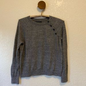 Grey Button Neck Abercrombie Sweater